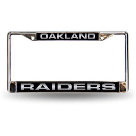 NFL Oakland Raiders Laser Chrome Frame, Silver