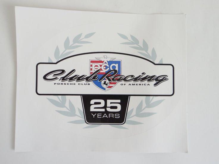 PorscheClubofAmericaClubRacingYearSticker SOLD IMSA - Porsche club racing