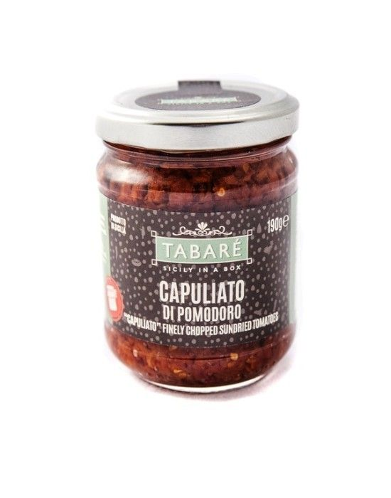 """Spaghetti Capuliato and anchovies"" The Capuliato is a traditional condiment of Sicilian cuisine and it is perfect for enhancing the sauces on pasta, but also excellent as a main ingredient! #sicily #capuliato #recipe #anchovies #ricette #recette #anchois #acciughe #sicilia #sicile #food #tabarè #products #sicilian"