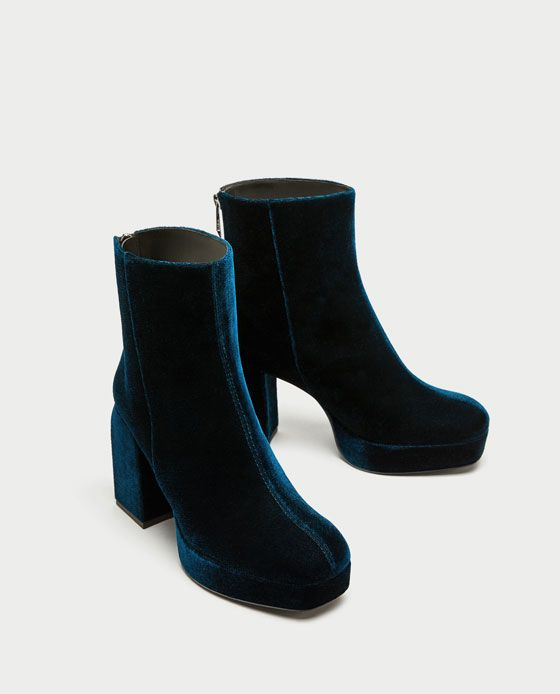 Image 3 of PLATFORM ANKLE BOOTS WITH PULL TAB from Zara