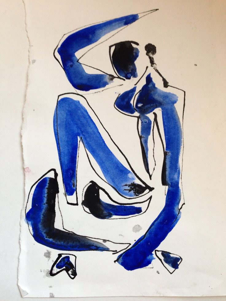 Henri Matisse (French, Fauvism, 1869-1954). 1952, Blue Nude Suite, II, Sketch