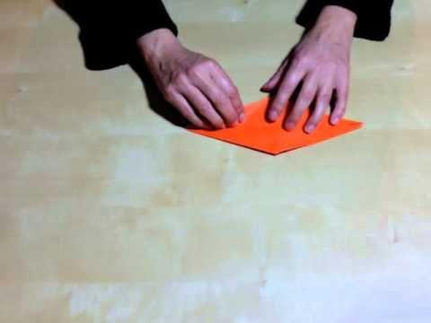 Elaboración de una grulla de papel