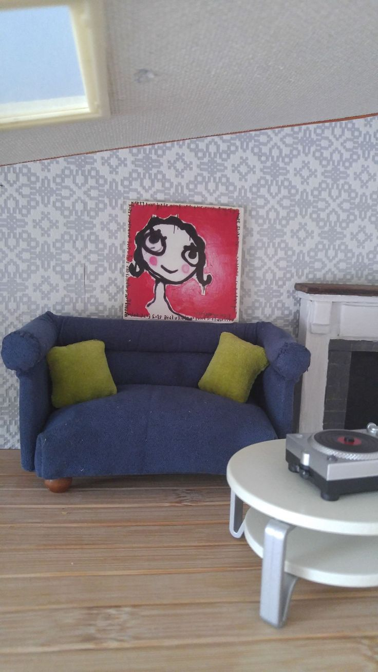 Couch Lundby size. Designed and made by Kitty van Meurs