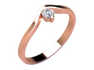 Zásnubní prsten - model LOVE 040