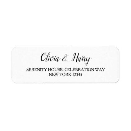 elegant white wedding return address labels return address