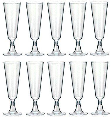 100 Einweg Sektgläser 0,1l Trinkbecher Hartplastik Sektkelche STAR-LINE® Champagnergläser Sektglas Sekt-Cocktail-Saft-Becher