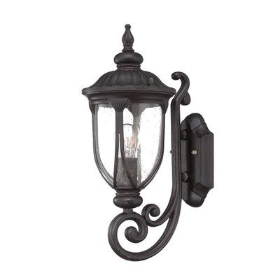 acclaim lighting laurens collection wallmount outdoor black coral light fixture at the home depot mobile
