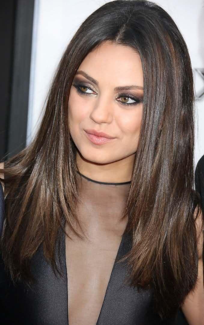 25 gorgeous mila kunis hair color ideas on pinterest mila kunis mila kunis see more fabulous highlight ideas for dark brown hair color pmusecretfo Images