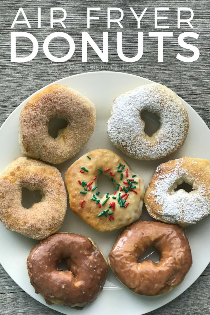 EASY Air Fryer Donuts from Biscuit Dough! (4 Kinds) Air