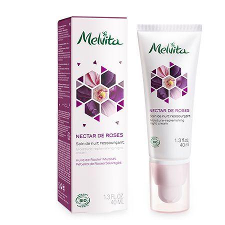 Découvrez le soin bio Nectar de Roses Melvita hydratant pour la nuit