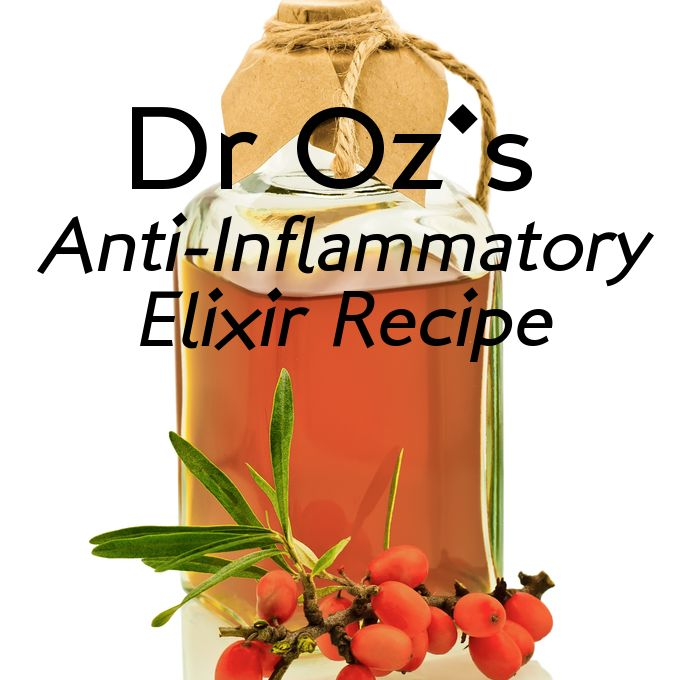 Dr Oz: True Food Anti-Inflammatory Diet & Dr Andrew Weil's Elixir