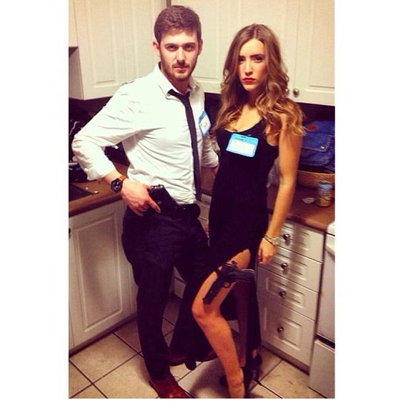 The 19 Best Couples Halloween Costumes of All Time | http://www.hercampus.com/entertainment/19-best-couples-halloween-costumes-all-time | Mr & Mrs Smith Costume, Brad & Angelina
