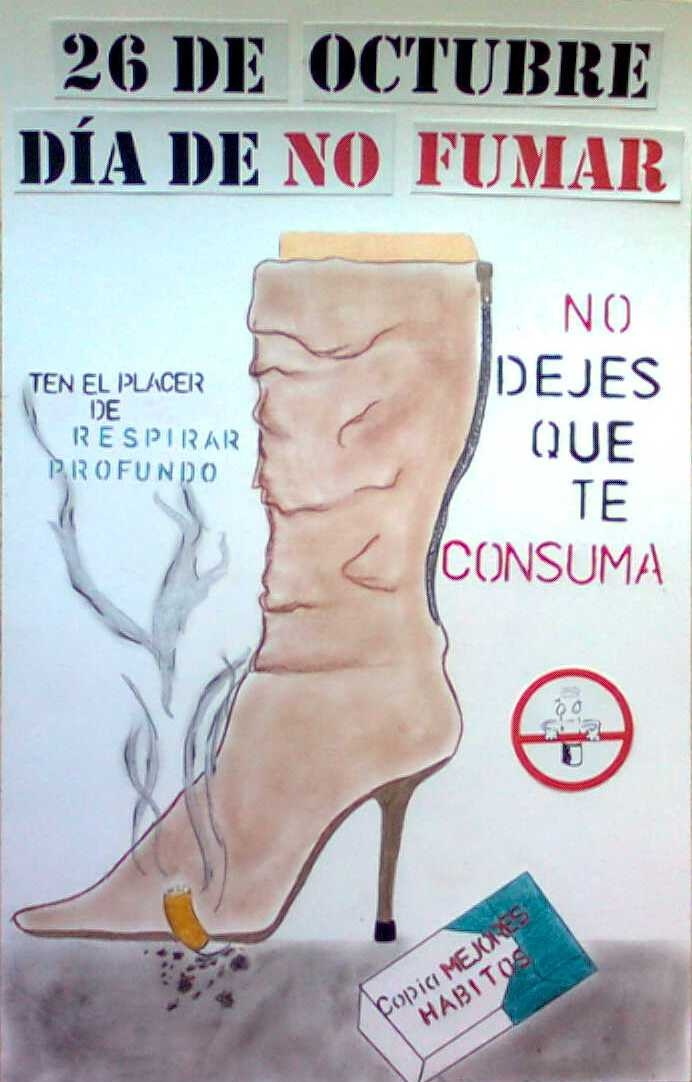 Afiche para el Día de No Fumar #dejedefumar | Dia de no