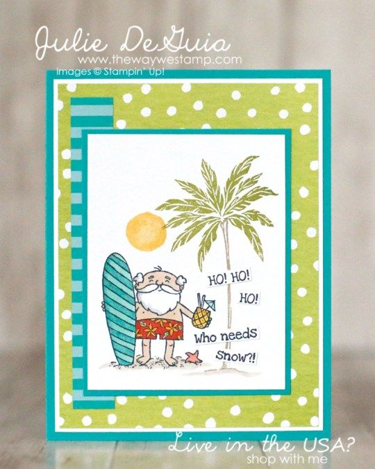 So Santa And Beach Happy By Stampin Up Global Design