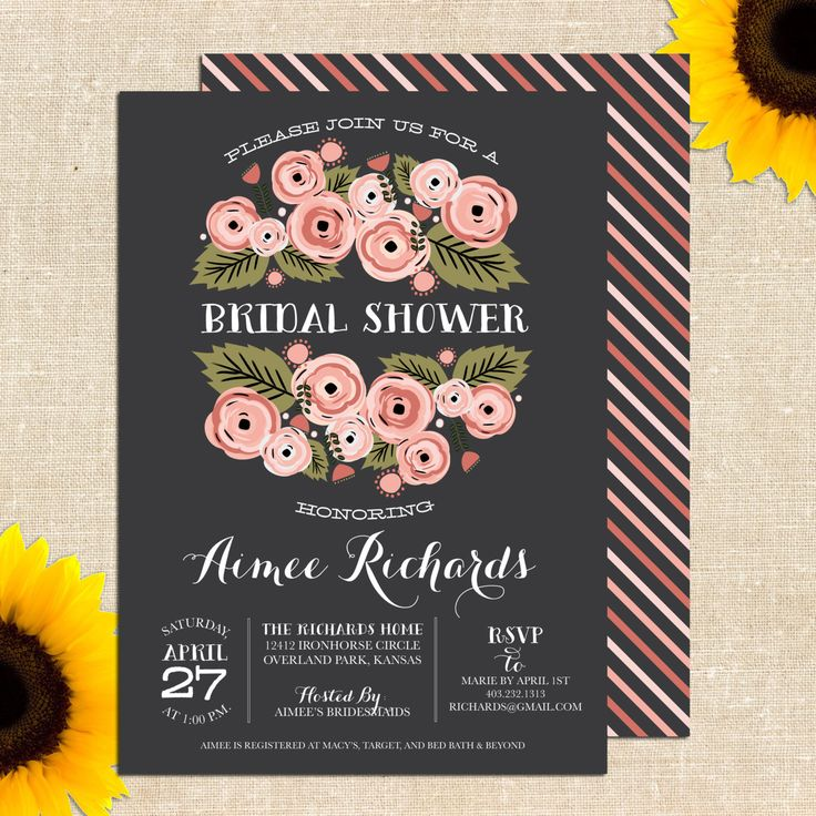 RusticBridalShowerInvitationDIYbyYellowBrickGraphicsonEtsy2000 A party Pinterest