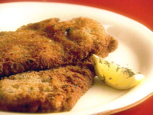Veal Milanese Recipe : Giada De Laurentiis : Food Network - FoodNetwork.com.  Delish!