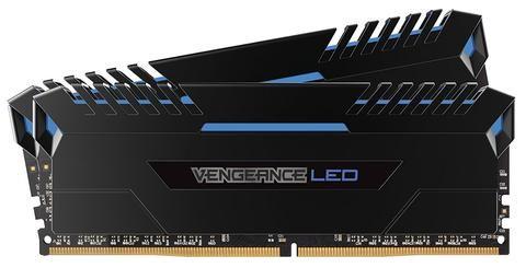 Corsair Vengeance LED 32GB (2x16GB) DDR4 3000 (PC4-24000) C15 for DDR4 Systems - Blue LED PC Memory (CMU32GX4M2C3000C15B)