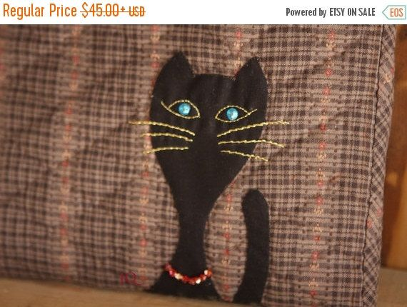 ON SALE CHRISTMAS Blue Eyed Party Cat  IPad by JamiesQuilting