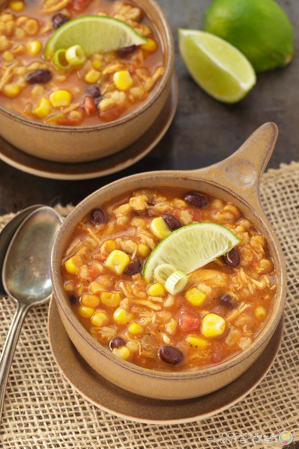 This Southwest Chicken Barley soup recipe is chocked full of wonderful ingredients and makes a great comfort dish!