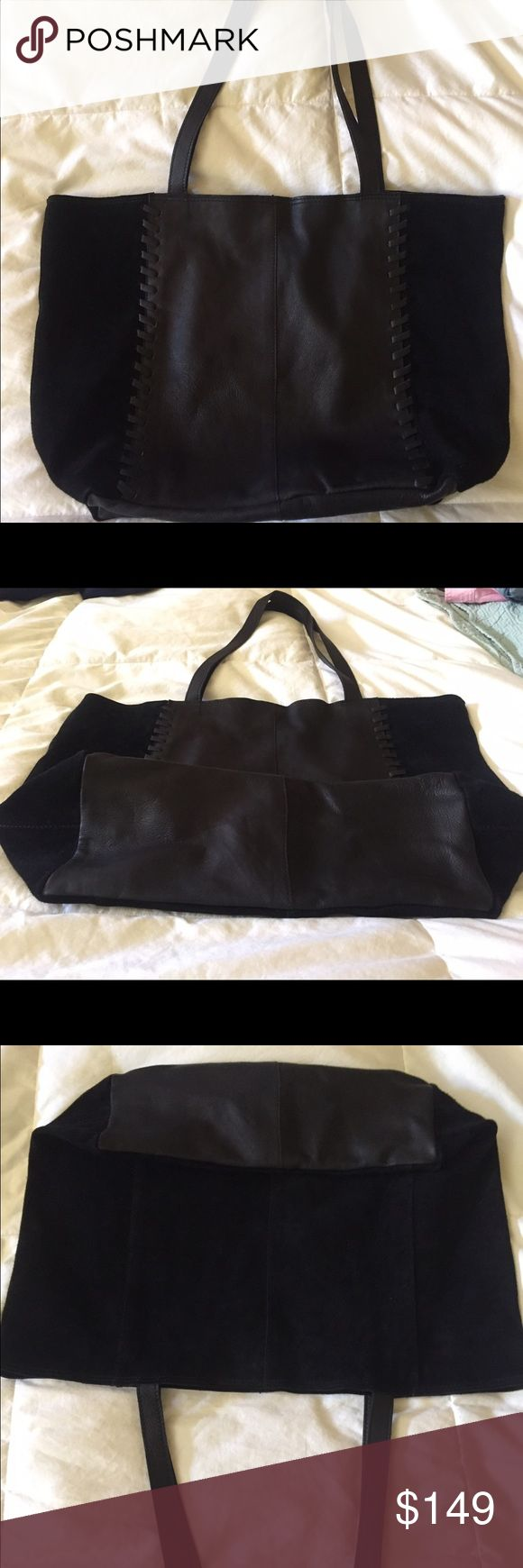 Purse Leather and suede black shoulder bag from Top Shop. Front is unique braiding attach to the suede. Beautiful purse. Pics don't do it justice! Also lightweight💕 NEW WITHOUT TAGS. Never used it.  I have many black purses😳 Topshop Bags Shoulder Bags