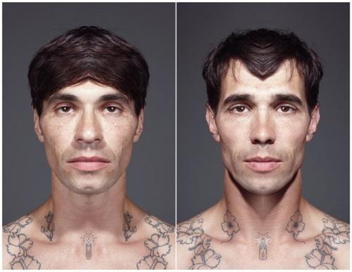 "Julain Wolkenstein's ""Echoism"" photo project makes subjects faces symmetrical"