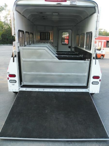2014 Gore 3 Horse Miniature Trailer Like New Miniature horse trailer. 3 Stalls, or 2 stalls and 1 cart. Rear ramp, drop down feed windows, escape door with windows,  easy access to horses at stops or show out of your trailer. Treated wood floors with mats. Mint condition and hauls behind a small pickup truck or a SUV. Please contact Shirley at: (716)863.1900 E-mail: shirl815@gmail.com ..... Read more and view photos: http://lilbeginnings.com/saleboard/adsDetails.php?adid=67927