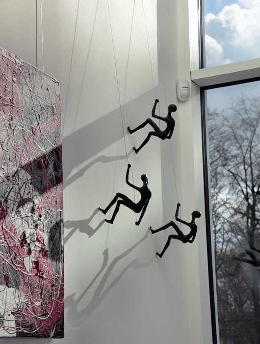 resin climbing man wall sculpture - Google Search