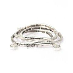 Bud to Rose set van 3 armbanden Shanghai silver
