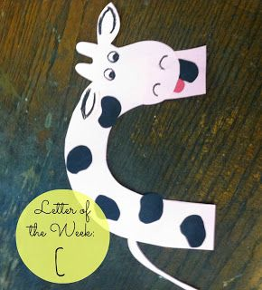 Letter of the week ideas: C is for cow                                                                                                                                                                                 More