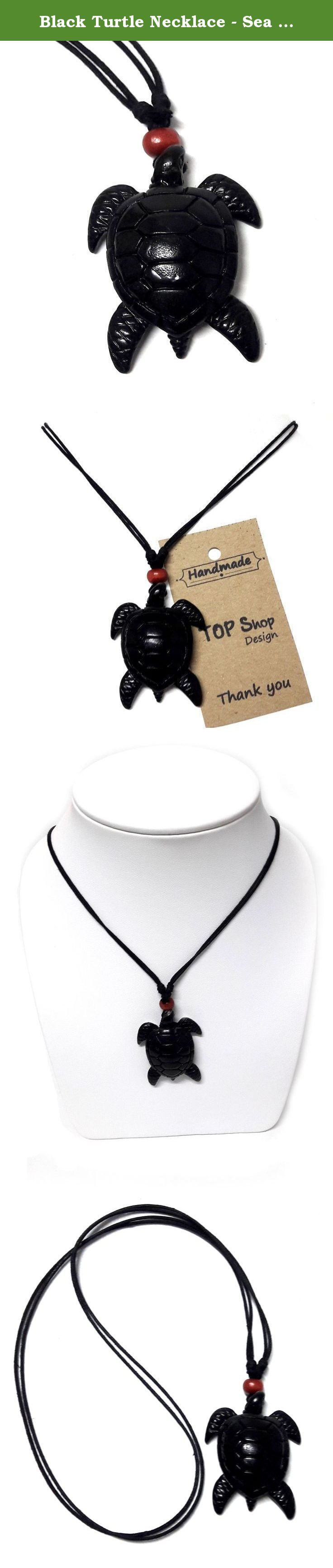 Black Turtle Necklace - Sea Turtle Necklace - Hawaiian Turtle Necklace - Beach Turtle Carey. The meaning of the turtle mascot According to its culture and heritage to the present. Stuffed Animals It is another meaning. It will also lead to a windfall. Prosperity to the people and dwelling houses as well. Tao Tao is too significant to health. Long life spans Strength endurance Commitment to the advancement and enhancement of wealth. Tao is a sacred animal in connection with the gods and...