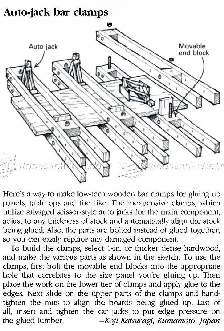 DIY Bar Clamp - Panel Glue Up Tips, Jigs and Techniques   WoodArchivist.com