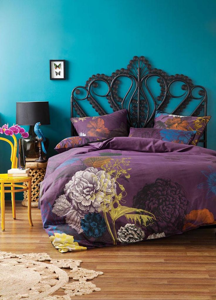 Linen House Frida King Bed Quilt Cover Set-Blackberry