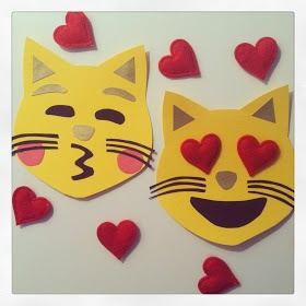 Catsparella: DIY Cat Emoji Valentine's Day Cards