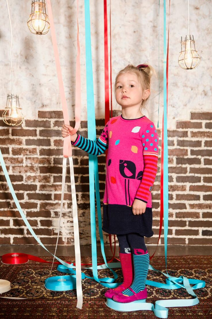 Deux Par Deux | Fall/Winter 2015 - Bisous D'Oiseaux Collection #girls #outfit #kidsfashion #knitdress #winter #mode #enfants #filles #modeenfants #robe #tricot #hiver