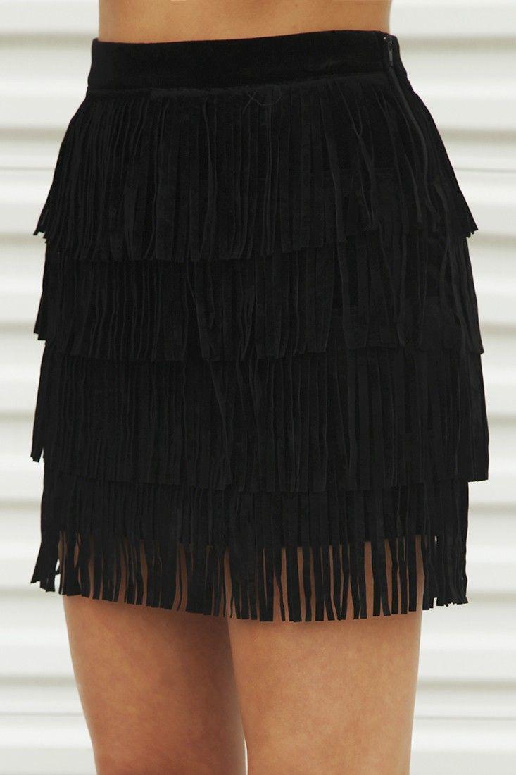 Girl's Best Fringe Skirt: Black #shophopes