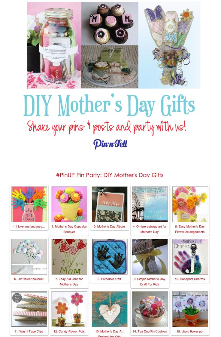DIY Mother's Day Gifts Pin Party!