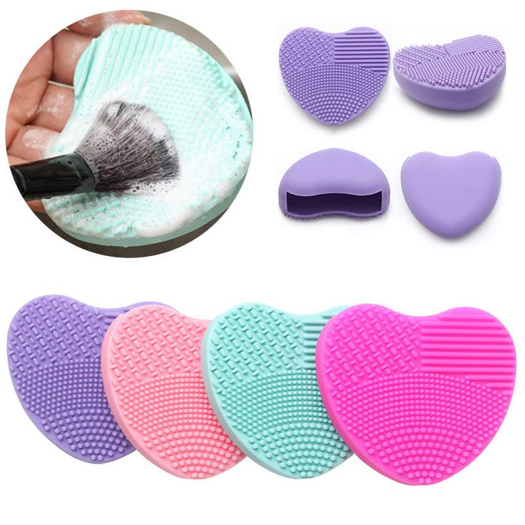 New Arrival Silicone Makeup Brush Cleaner Pad Washing Scrubber Board Cosmetic Cleaning Mat Tool