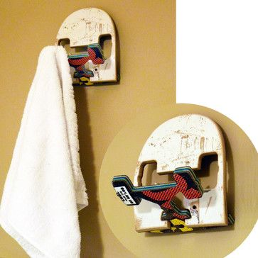 SkateHook - Recycled Skateboard Wall Hook - Recycled Skateboard Furniture
