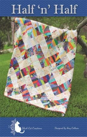 Half 'n' Half Quilt Pattern by Amy Cotham of Black Cat Creations