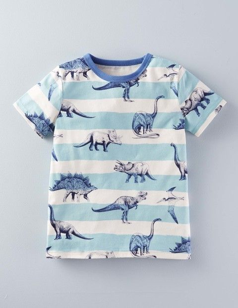 Mini Boden dinosaur boys' printed t-shirt