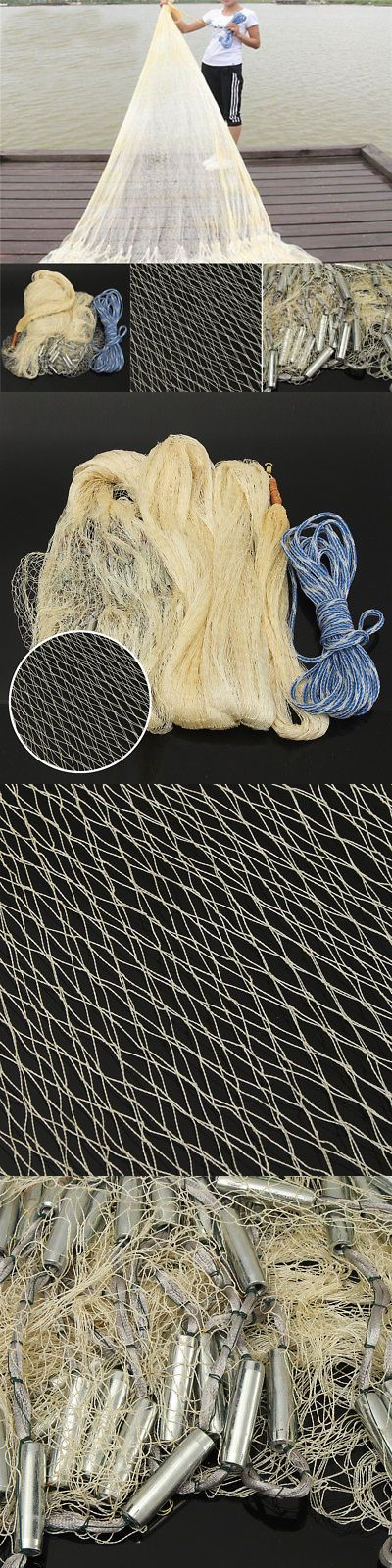 Nets 81458: Big Fishing Net 3X4m Nylon Monofilament Fish Trap Gill Throw For Hand Casting -> BUY IT NOW ONLY: $41.99 on eBay!