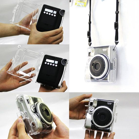 Fujifilm Instax Mini 90 Camera Case Crystal Clear by MaterialDream