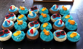 More Swim Party cupcakes