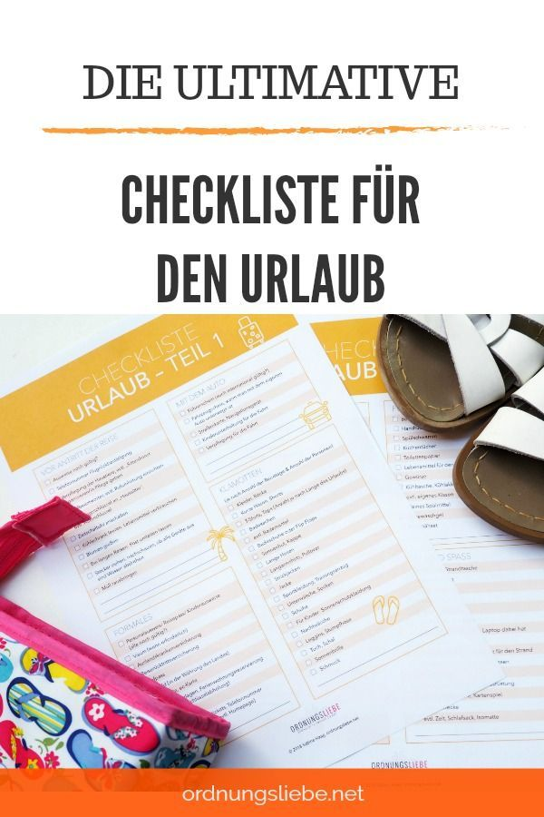 Mit der Checkliste in den Urlaub | Gruppenboard // Bloggerinnen aus ...