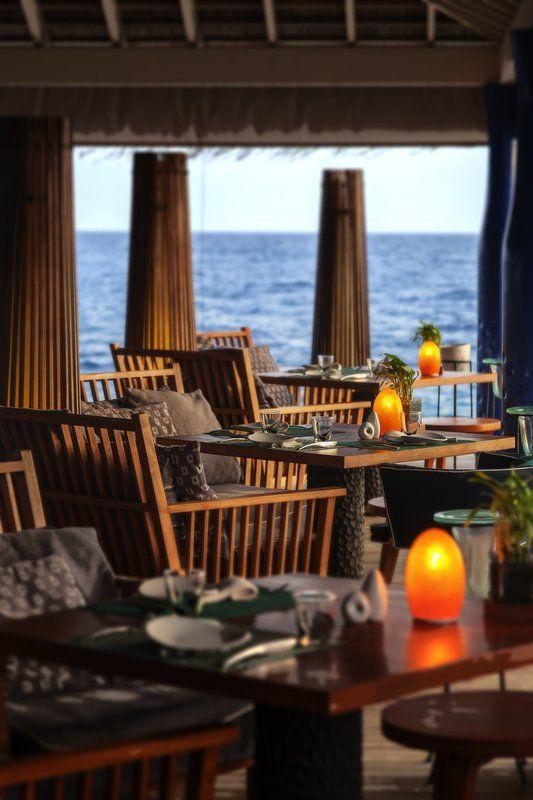 Enjoy your dining as the ocean breeze drifts through at #Anantara Kihavah Villas in #Maldives