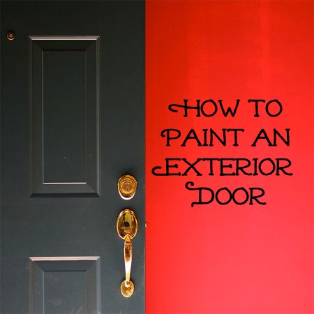 Depending on your climate, your home's exterior doors (front and back doors) will probably need to be painted every 5 to 10 years.  If your exterior doors are looking faded with little scratches or you would like to paint them a new color, follow the steps below to paint an exterior door.