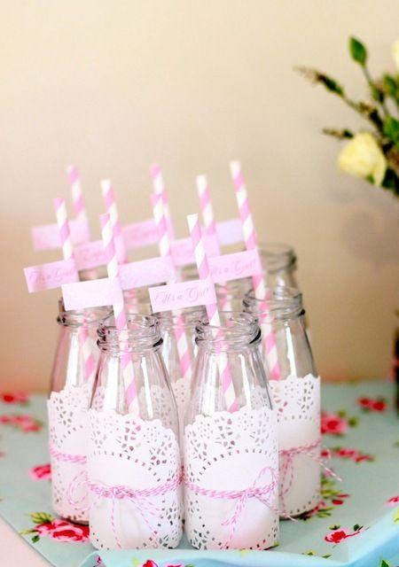 Süße Getränkeflaschen für deine Gäste :)