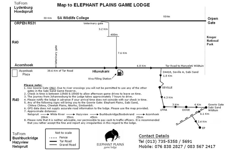 How to get there | Map | Elephant Plains Game Lodge