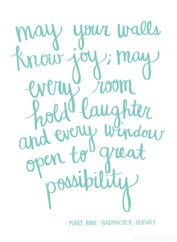 May your windows open to great possibilities.