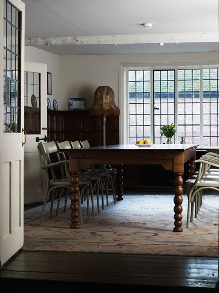 The Olde Bell Inn, designed by Ilse Crawford rooms have a old english feel to it.